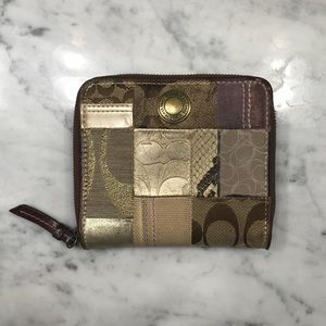Coach patchwork wallet